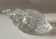 Waterford Crystal Conch Shell Large Paperweight Signed Ireland