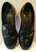 Nunn Bush Dress Flex Wingtip Kiltie Tassel black Loafers Shoes Men's 12 M formal