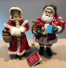 Clothtique Possible Dreams Mr & Mrs Claus Figurines 1990 & 1992 (9-10�H) Great!