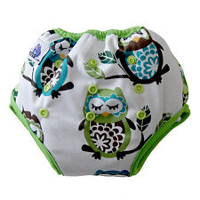Training Pants or Night Nappy Pants Bamboo Liner with side & front snaps Owls