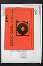 Saba ENREGISTREMENT LECTEUR PSP 240 mode d'em Ploi + Amplificateur /