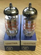 12AX7WA Westinghouse (EI MADE) Matched Pair Tested Strong NOS NIB More Available