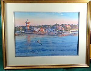 West Fraser Framed Print of the Harbor Town Lighthouse,