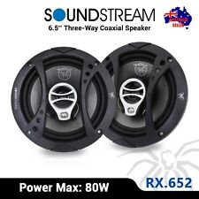 "NEW SoundStream RX.652 6.5"" 3-Way Coaxial Speakers 80W (40W RMS)"