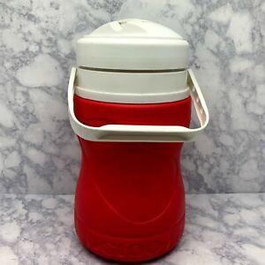 RARE Igloo Red Curvy Cooler Water Jug Half Gallon
