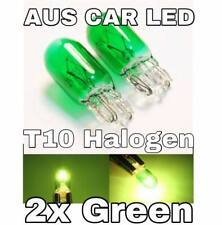 2x T10 Car Globe Halogen Bulb Green Fog light Front Side Lamp 5W 168/W5W