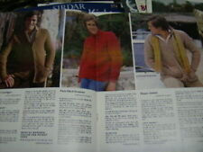 Paton's Man Booklet -8 Knitting Patterns Sweaters, Cardigan-All Shown