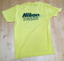 Vintage 1980s Nikon Camera T Shirt Tee T-shirt Pictures 80s Photography Large L
