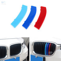 3*M Color Front Kidney Grill Strip 11 Bar Cover Sport For BMW 3 Series 320i 325i