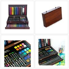 Art101 Complete Coloring Drawing Deluxe Wood Case 142 Piece Creative Art Set