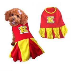 High Quality Dogs Costume - CHEERLEADER DOG COSTUMES - Cute K Spirit Red Yellow