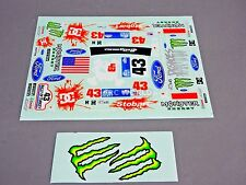 RC Car Truck RACING Drift DECALS Stickers MONSTER ENERGY Ford Focus Rally