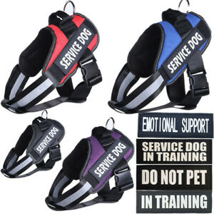 Reflective Dog Vest Service Dog Harness Patches THERAPY DOG Do not Pet Emotional