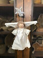 Handmade Ginny Henson Angel - Old Materials Signed