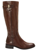 Sandler Jenna Brown Leather BOOTS Women's Shoes Brown Glove 38