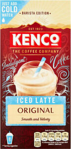 Kenco Iced Latte Original Instant Coffee Sachets x 8 NEW SHIPS WORLDWIDE