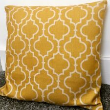 """Mustard Yellow Moroccan Cushion Cover 55cm 22"""" Geometric Double-sided"""