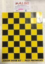 Adesivi decorazione Scacchi nero giallo - pezzi pretagliati