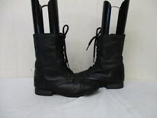 Steve Madden Troopa Dark Green Leather Zip Lace Military Fashion Boots Sz 6.5 M