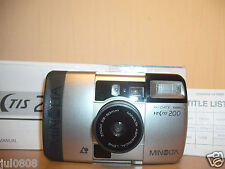 BOXED MINOLTA VECTIS 200 IX-DATE APS FILM CAMERA~25-50MM ASPHERICAL LENS (R332)