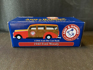 Arm & Hammer Commemorative 1940 Ford Woody Die Cast Vehicle BANK #3