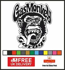 Gas Monkey Vinyl Decal Sticker, High Quality, Tool Box Car Van, Free UK Delivery