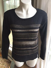 Women's Rock & Republic sweater mesh black size medium