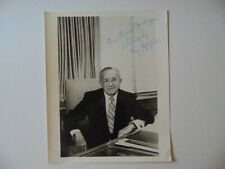 """""""Columbia Pictures Chairman"""" Leo Jaffe Signed 8X10 B&W Photo Todd Mueller COA"""