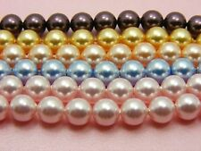 6PC Genuine 8MM or 10MM SWAROVSKI 5810 Crystal PEARLS Round BEADS Assorted Color