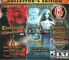 LIVING LEGENDS ICE ROSE + EXORCIST 1, 2 & 3 Hidden Object 6 PACK PC Game NEW