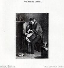 UN MAESTRO DENTISTA. Odontoiatria. Medicina. Dentiste. Dentist. Zahnarzt. 1929