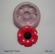 NUOVA GRANDE PAPAVERO fiore stampo in silicone, Sugarcraft, CUP CAKE CARTA Coprimaterasso, fimo