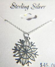 18 INCHES STERLING SILVER CHRISTMAS NECKLACE WITH  A 20 X 20mm STAR PENDANT