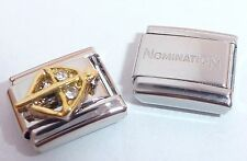 Sagitario 9mm Italiano Charm & 1x Original NOMINATION Clásico Horóscopo Zodiaco