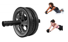 Dual Ab Roller Abs Roll Out Exercise Fitness Wheel Core Training Workout Wheels