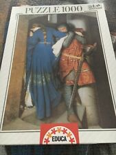 Educa Puzzle 1000 Medieval Art with Knight and Damsel - Gorgeous!