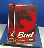 2001 BUD OFFICIAL BEER NASCAR WINSTON CUP SCHEDULE ADVERTISING TABLE TOP TENT