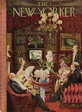 1950 New Yorker Cover February 4 - The Rich Watch Wagner Opera on TV -Mary Petty