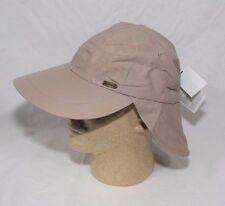Stetson No Fly Zone Nylon Cap with Sun Shield UPF 50+ Khaki S/M or L/XL