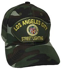 City Of Los Angeles Street Lighting Hat Color Camo Adjustable