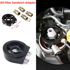 3/4 UNF Oil Filter Temp Pressure Cooler Gauge Sandwich Plate Adapter Sensor Kit