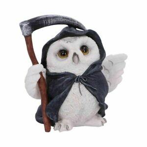 Reapers Flight Owl Figurine - Gothic Cloaked Grim Cute Reaper Horror Figure 12cm