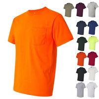 JERZEES Mens Tees Shirts Heavyweight Blend 50/50 T-Shirt with a Pocket
