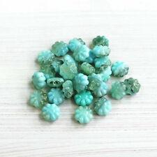 50 Czech Pressed Glass Alexandrite 9mm Daisy Disc Flower Beads