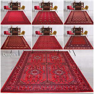 Non Slip Traditional Rug Ruby Afghani Rug Khorasan Bokhara Rug Area Rugs Carpets