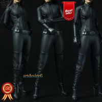 Sexygirl 1/6 Scale Cool Black Suit CATWOMAN Catherine Clothing Outfit Set F 12""