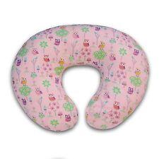 Boppy Pillow Slipcover Classic Owl Flower Pink Nursing PILLOW CASE Baby