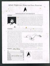 Star Trek First Family Signed Shatner Nimoy Kelley Doohan Nichols Takei Koenig