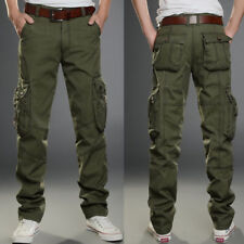 Mens Casual ARMY Military Pants Fatigue Trousers Style Cargo Military Camouflage