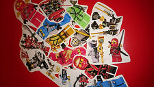 10 MINI LEGO NINJAGO VINYL MAGNETS PARTY BAG FILLERS